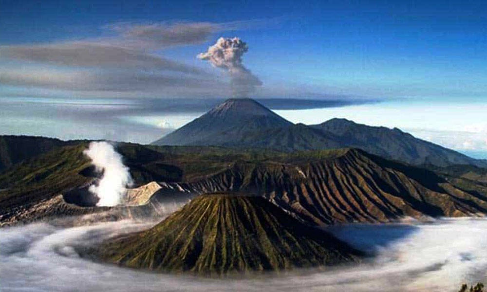 From East to Central Java Active Volcano